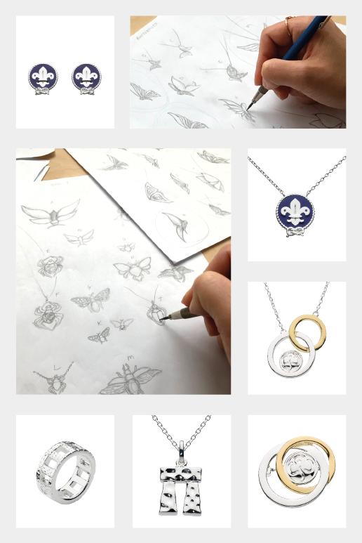 Bespoke jewellery designs by Kit Heath